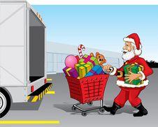 Free Santa Claus Shopping Stock Image - 16612251