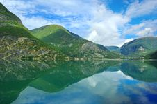 Free Picturesque Norway Mountain Landscape. Stock Image - 16612811
