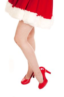 Free Mrs Santa Bare Legs Stock Images - 16612964