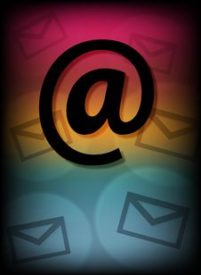 Free Email Symbol With Little Envelopes Stock Images - 16613054