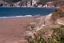 Free Cliffs At Bigbury, Devon, UK Stock Photos - 16613063