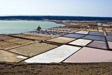 Salt Piles On A Saline Exploration Stock Images