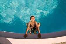 Free Child Is Posing In The Pool Stock Photo - 16613990