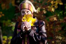 Free Young Woman In Autumn Park Royalty Free Stock Photography - 16614077