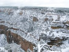 Free Snow At Grand Canyon Royalty Free Stock Image - 16614286