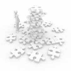 Free Puzzle To Complete Stock Photo - 16615000