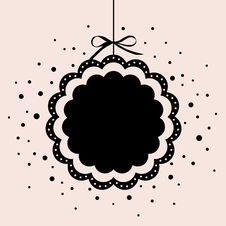 Vector Christmas Ball(hanging) Royalty Free Stock Photography