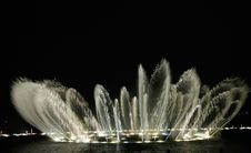 West Lake,musical Fountain Stock Images