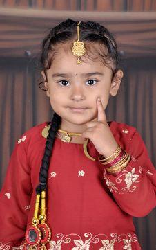 Free Little Punjabi Girl Portrait Stock Images - 16616104