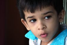 Free Indain Cute Boy Looking Somewhere Royalty Free Stock Photography - 16616827