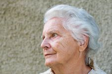 Free Portrait Of A Senior Woman Stock Photography - 16617092