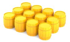 Free Yellow Barrels Royalty Free Stock Images - 16617329