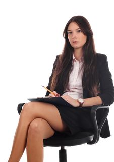 Free Businesswoman With Advisor On Office Chair Stock Images - 16617384