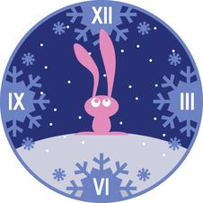 Pink Bunny Royalty Free Stock Photo