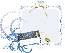 Holiday Card In The Decorative Frame Stock Photography