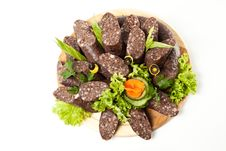 Free Blood Sausage With Vegetables Royalty Free Stock Photography - 16618327