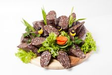 Free Blood Sausage With Vegetables Royalty Free Stock Images - 16618379