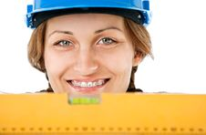 Free Female Worker Level Royalty Free Stock Image - 16618736