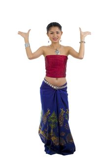 Free Asian Dancing In Traditional Clothes Royalty Free Stock Photo - 16618865
