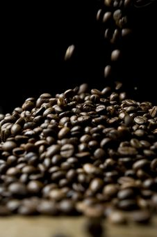 Free Falling Coffee Beans Royalty Free Stock Photos - 16618918