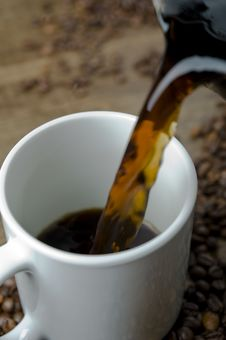 Free Pouring Coffee Royalty Free Stock Image - 16619146