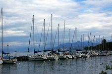 Free Yachts Harbour. Royalty Free Stock Photos - 16619328