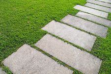 Free Path Through Grass Royalty Free Stock Photography - 16619647