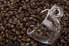 Cup Filled With Coffee Beans Royalty Free Stock Image