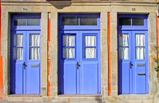 Free Old Blue Doors Royalty Free Stock Photos - 16619848