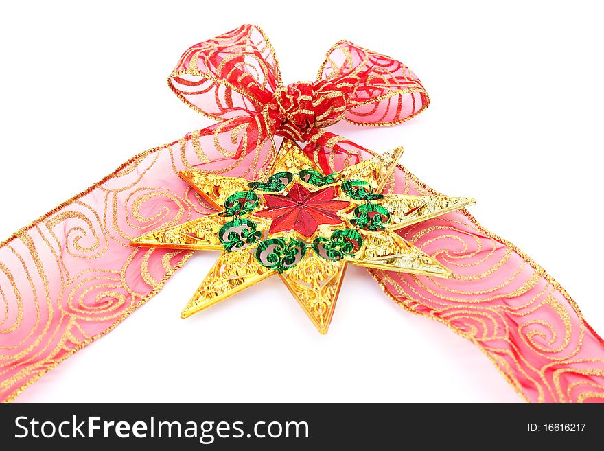 Red ribbon and star