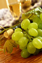 Free Fresh Grapes, Vine And Vine Bottle, Holiday Stock Images - 16621714