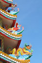Free Three Legend Animals On Chinese Roof Stock Image - 16629721