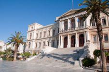 Free City Hall Of Ermoupolis Stock Photo - 16620260