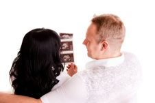 Free Couple Holding A Sonogram Stock Photography - 16620272
