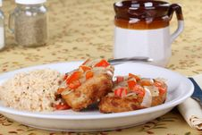 Pork Cutlet Meal Stock Photography