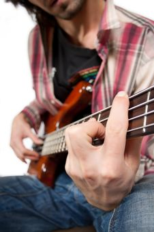 Free Bass Guitar Player Stock Photos - 16620703