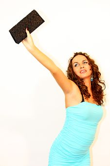 Free Fashion Model Holding A Purse Stock Image - 16621061