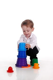 Free Child With Toys Royalty Free Stock Image - 16621356