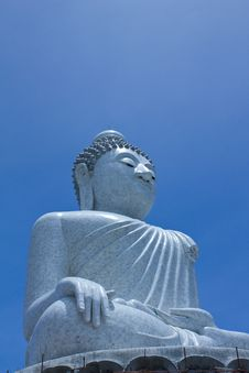 Big Buddha Constructing Royalty Free Stock Photography