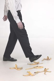 Free Stepping On Banana Peels Stock Photos - 16621483