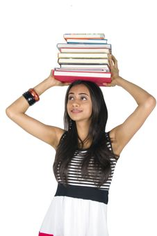 Free Young Teenage Girl Holding Books. Royalty Free Stock Images - 16621489