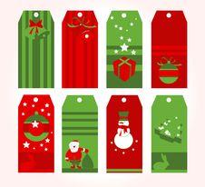 Christmas Tags Stock Photo