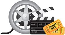 Free Movie And Cinema Icon Set Royalty Free Stock Images - 16621899