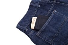 Wallet With Money In Jeans Pocket Royalty Free Stock Image
