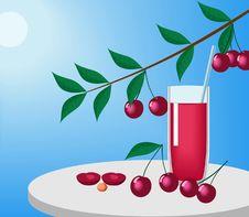 Cherries And Juice. Stock Image