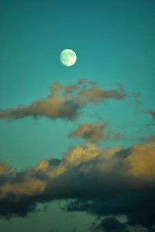 Free Clouds And The Moon Royalty Free Stock Photos - 16625368