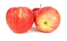 Free Three Red Apples Isolated. Stock Photo - 16626810