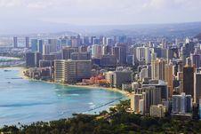 Free Waikiki With Birds Flying Stock Image - 16627561