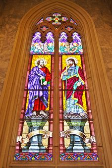 Free ST. Matthew  And ST. Thomas Stained Glass Royalty Free Stock Image - 16628186