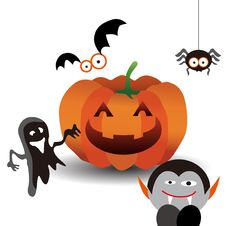 Free Halloween Characters Royalty Free Stock Photos - 16628638